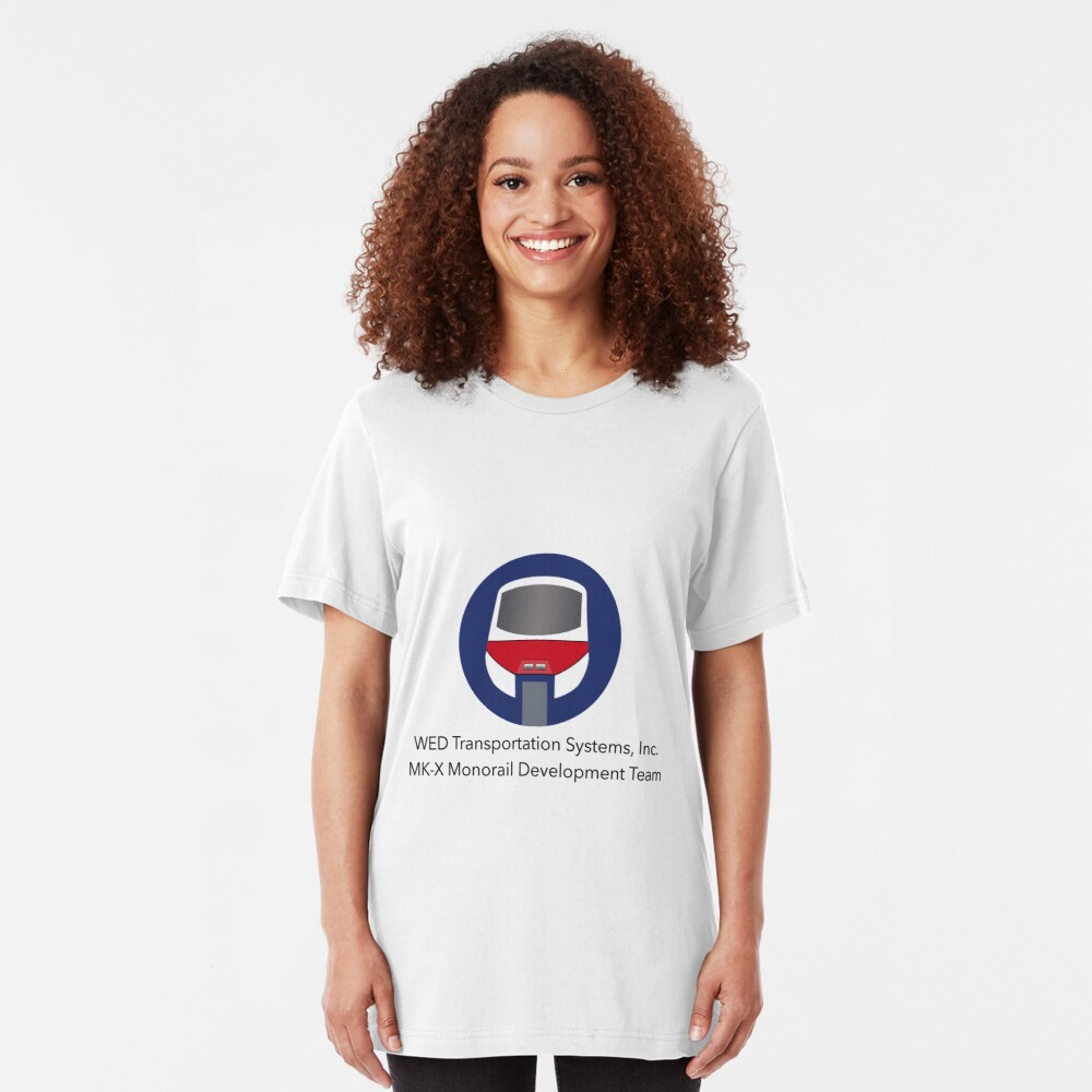 MK-X Monorail Development Team Slim Fit T-Shirt