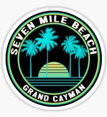 Seven Mile Beach Grand Cayman Inseln Sticker