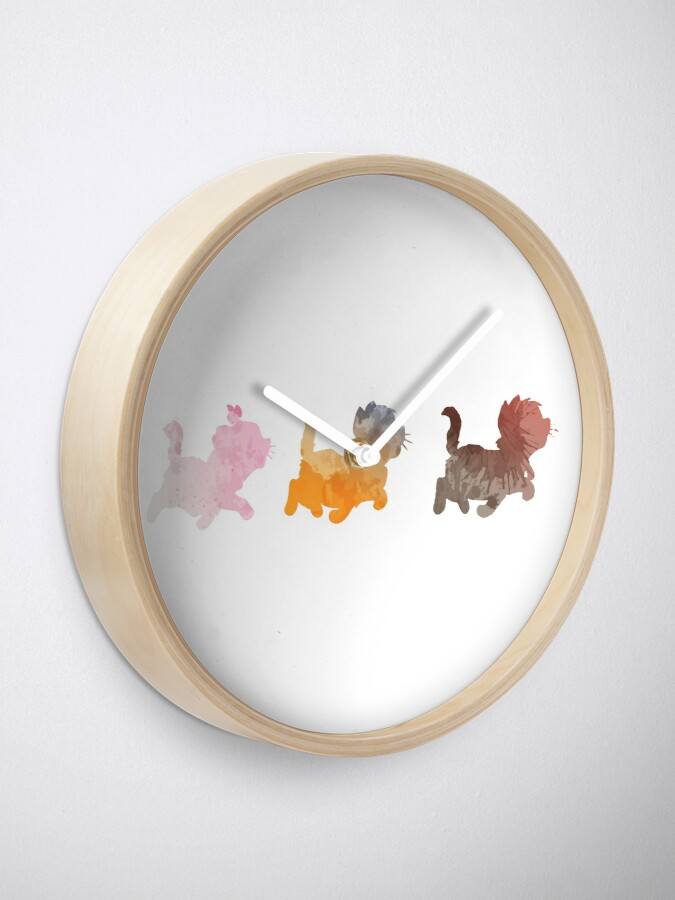Alternate view of Kittens Inspired Silhouette Clock