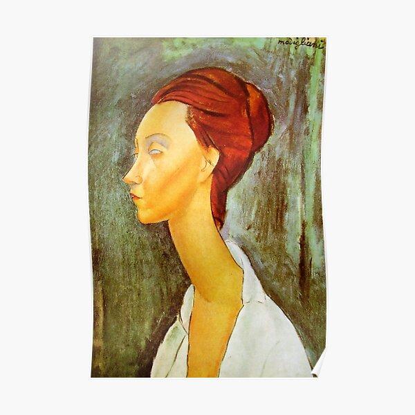 Vintage Amedeo Modigliani - Portrait de Lunia vers 1920 Fine Art Poster