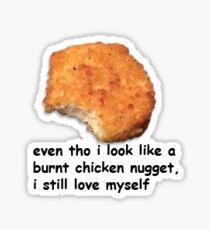 Burnt chicken nugget vine Sticker
