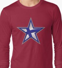 Finnish American Star Long Sleeve T-Shirt