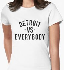 Detroit VS Everybody | Black Women's Fitted T-Shirt