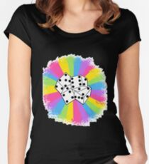 Dice! :) Women's Fitted Scoop T-Shirt