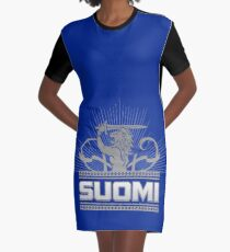 Suomi Finland Lion V2 Graphic T-Shirt Dress