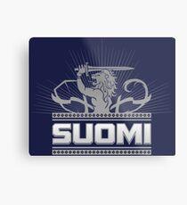 Suomi Finland Lion V2 Metal Print