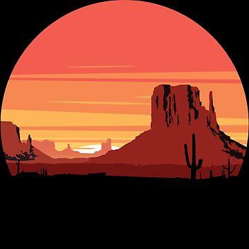 Desert sunset by Pautyr