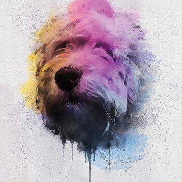 Bubba Cockapoo Dog Portrait by PugsandStuff