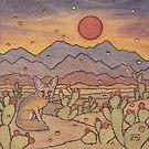 Kit Fox in the Desert by Fay Helfer