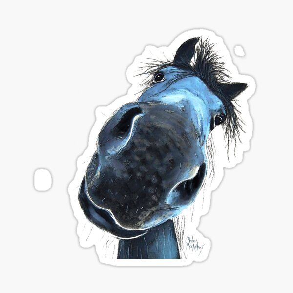 HoRSe PRiNT ' HaPPY BuRT ' BY SHiRLeY MacARTHuR Sticker
