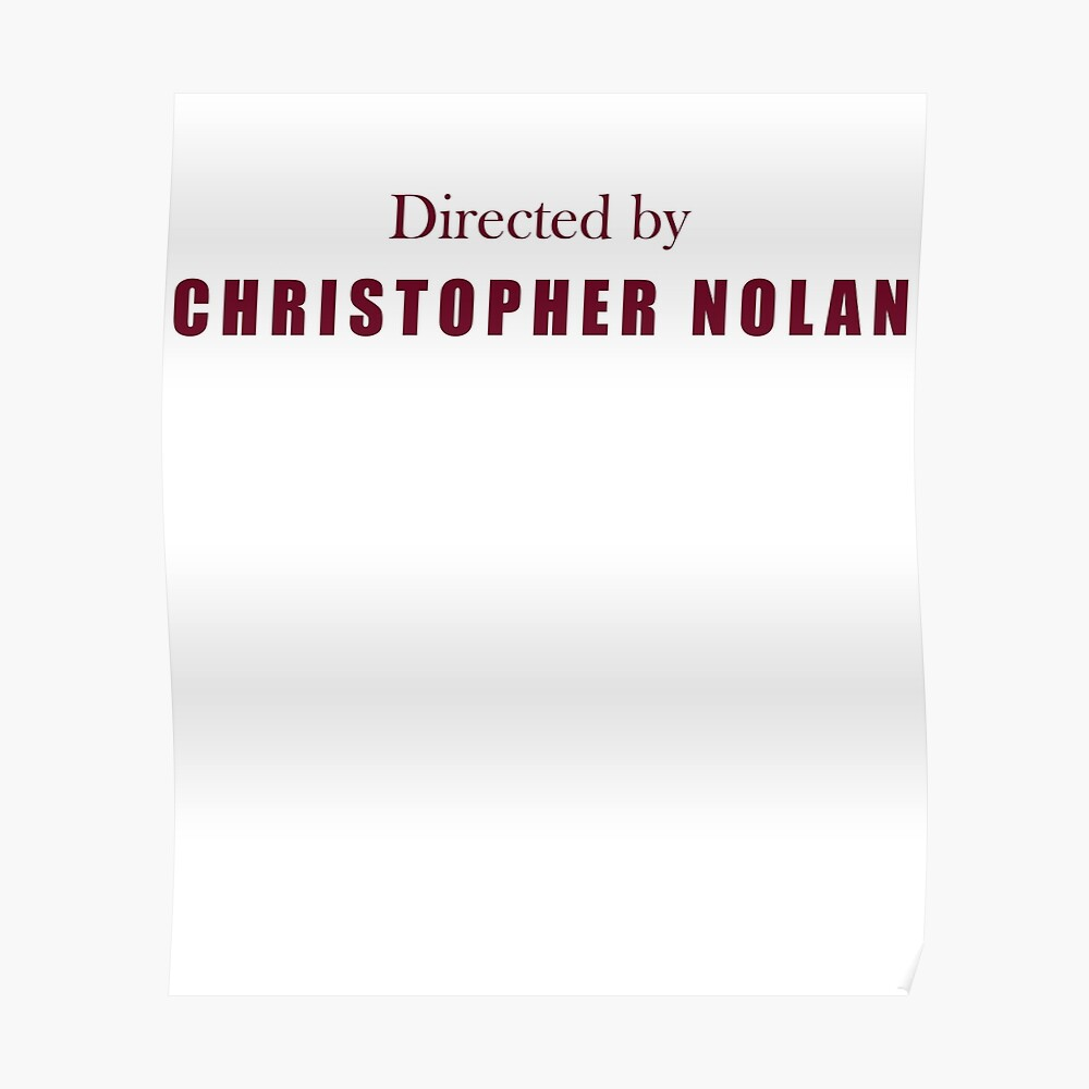 Directed By Christopher Nolan Poster
