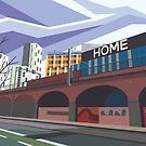 Manchester - Whitworth Street by JAMWAH Illustration & Design