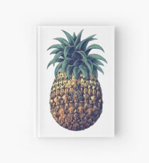 Ornate Pineapple (Color Version) Hardcover Journal