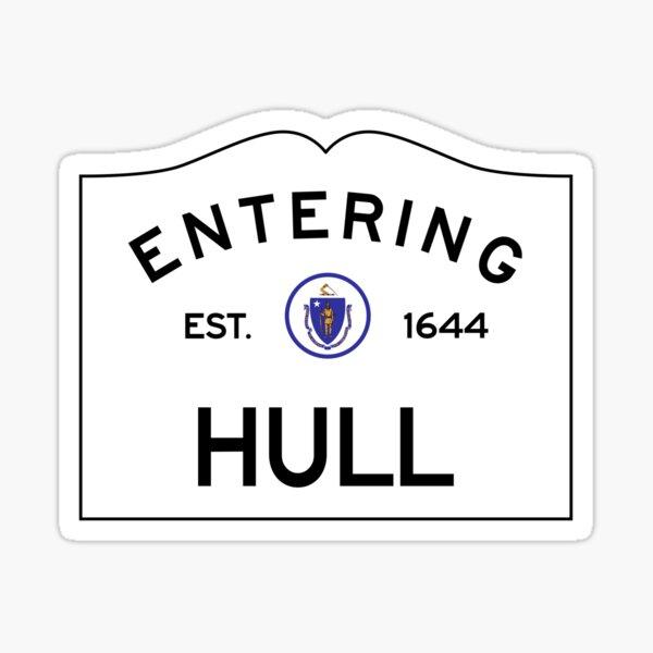 Entering Hull Massachusetts - Commonwealth of Massachusetts Road Sign Sticker