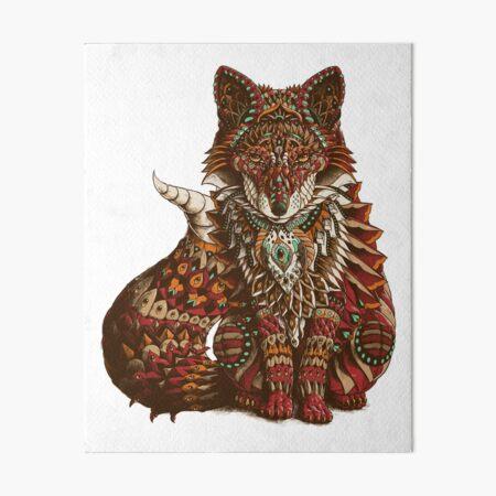 Red Fox (Color Version) Art Board Print