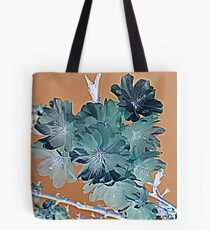 Blossom - Faded orange and grey Tote Bag