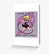 Fight Like A Celestial Mage Greeting Card