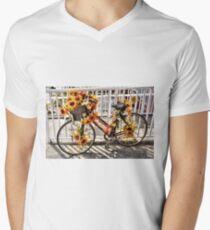 Flowered Pedal Power - Florida Men's V-Neck T-Shirt