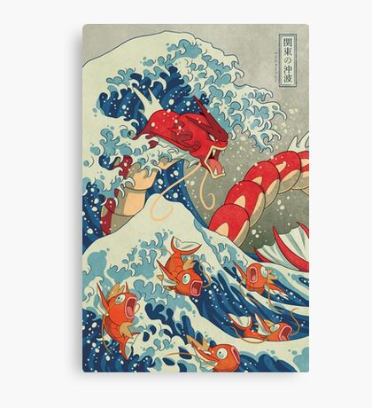 The Great Red Wave Canvas Print