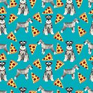 schnauzer pizza dog breed pet pattern gifts  by PetFriendly