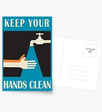 keep your hands clean  Postcards