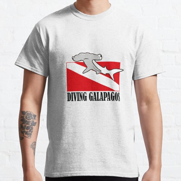 Galapagos Diving with Hammerhead Shark Classic T-Shirt