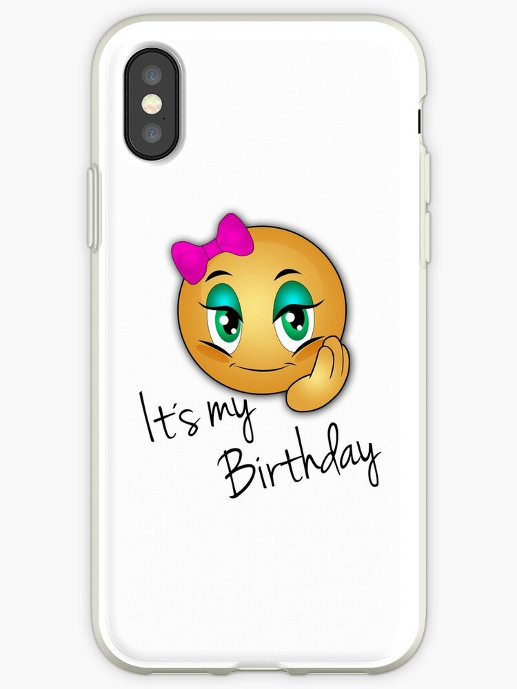 Girls Birthday Emoji IPhone Cases Covers By Delpieroo