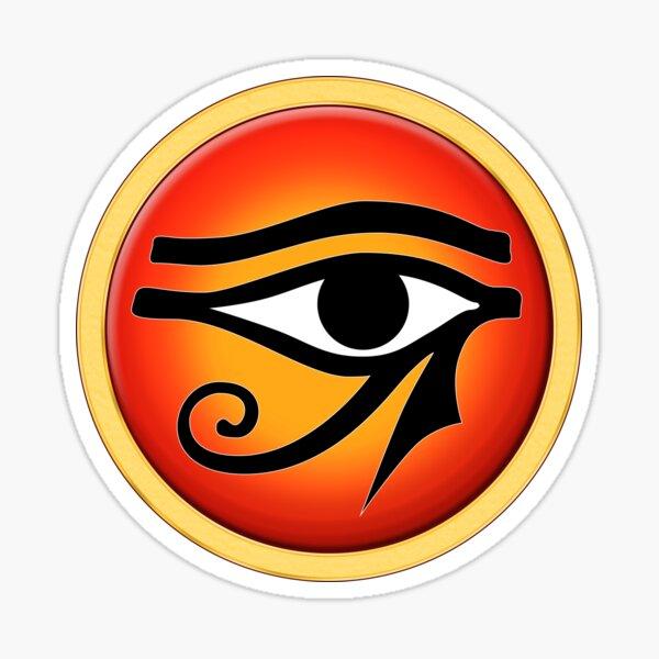 Eye Of Ra On Sun Disk Sticker