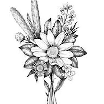 flower drawing  by molly34