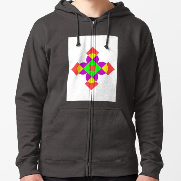 SQUARES AND CIRCLES Zipped Hoodie