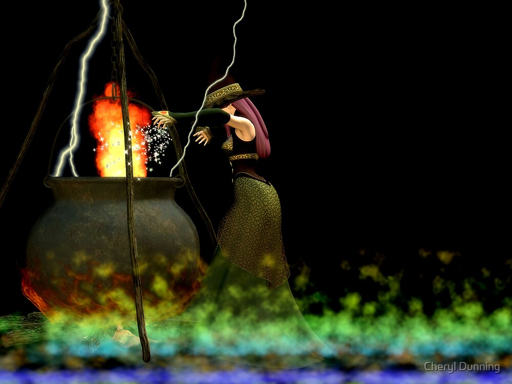 burning burning burning by Cheryl Dunning