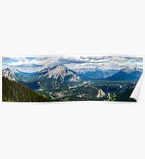 Panorama from Sulphur Mountain Poster