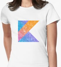 Kotlin Programming Language Retro Style  Women's Fitted T-Shirt