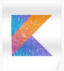 Kotlin Programming Language Retro Style  Poster