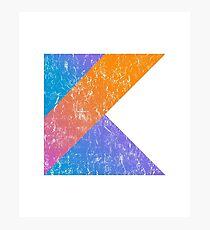 Kotlin Programming Language Retro Style  Photographic Print