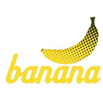 Pop Art Banana by crayonista