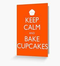 Keep Calm and Bake Cupcakes Greeting Card