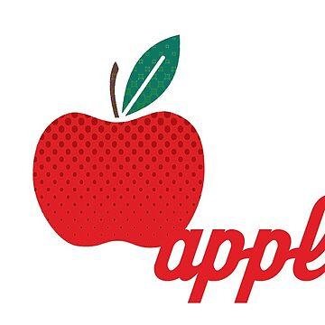 Apple Pop Art by crayonista