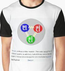 Neutron, Physics, Quarks, Gluons, Baryon, Subatomic Particle  Graphic T-Shirt