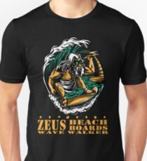 Zeus Beach Board Wave Walker Unisex T-Shirt