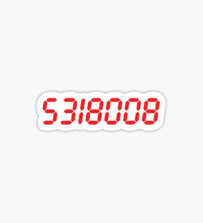 5318008 - Red Sticker
