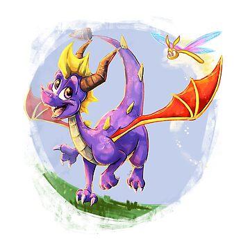 Painted Spyro by BlazeTFD
