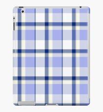 Blue Traditional Tartan Texture iPad Case/Skin