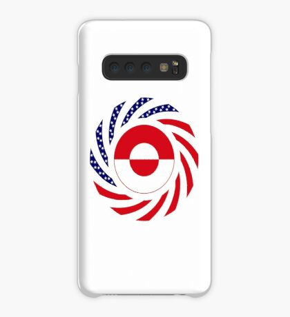 Greenlandic American Multinational Patriot Flag Case/Skin for Samsung Galaxy