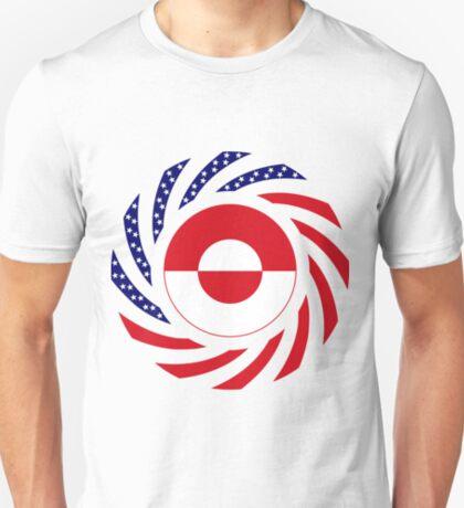 Greenlandic American Multinational Patriot Flag T-Shirt
