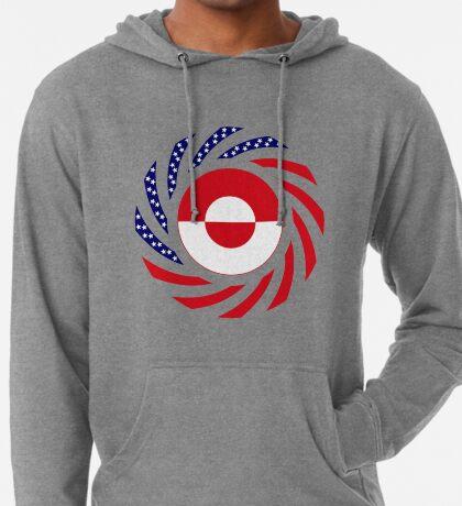 Greenlandic American Multinational Patriot Flag Lightweight Hoodie