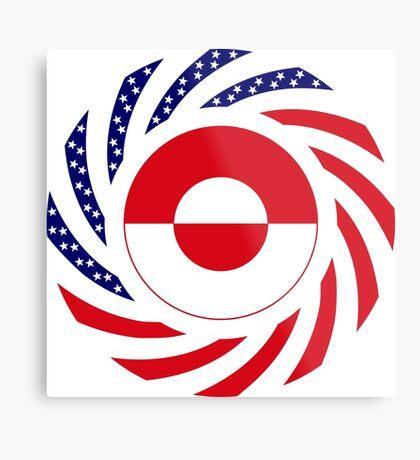 Greenlandic American Multinational Patriot Flag Metal Print