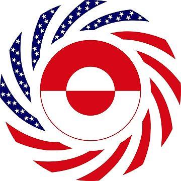 Greenlandic American Multinational Patriot Flag by carbonfibreme