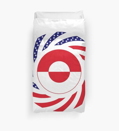 Greenlandic American Multinational Patriot Flag Duvet Cover