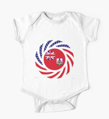 Bermudan American Multinational Patriot Flag Series Kids Clothes